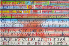 Acrylic print  Farewell poem by Jorge Luis Borges - Diego Manuel Rodriguez