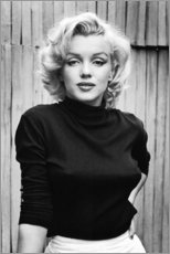 Wood print  Marilyn Monroe - Celebrity Collection