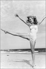 Premium poster  Marilyn on the beach - Celebrity Collection