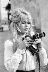 Acrylic print  Brigitte Bardot with camera - Celebrity Collection