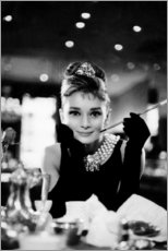 Wood print  Audrey Hepburn in Breakfast at Tiffany's - Celebrity Collection