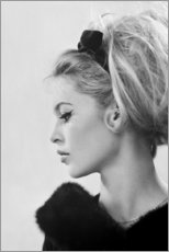 Canvas print  Brigitte in profile - Celebrity Collection