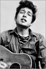 Foam board print  Bob Dylan with guitar - Celebrity Collection
