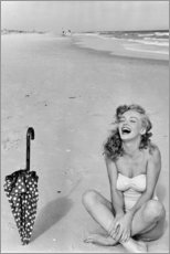 Acrylic print  Marilyn Monroe at the beach - Celebrity Collection