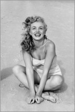 Premium poster  Marilyn Monroe in a bathing suit - Celebrity Collection