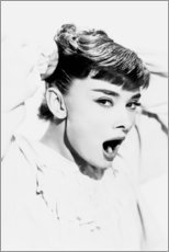 Acrylic print  Audrey Hepburn Yawning - Celebrity Collection