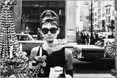 Wood print  Breakfast at Tiffany's - Celebrity Collection