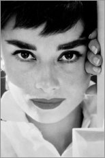 Canvas print  Audrey Hepburn close-up - Celebrity Collection