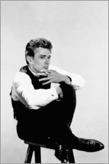 Premium poster James Dean smoking