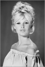 Foam board print  Brigitte Bardot with her shoulders uncovered - Celebrity Collection