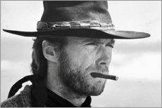 Wood print  Clint Eastwood in The Good, the Bad and the Ugly - Celebrity Collection
