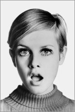 Canvas print  Twiggy astonished - Celebrity Collection