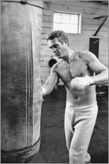 Gallery print  Steve McQueen boxing - Celebrity Collection