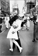 Aluminium print  V-Day in Times Square (The Kiss) - Celebrity Collection