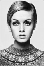 Wood print  Twiggy - Celebrity Collection
