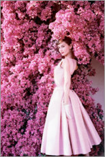 Premium poster  Audrey Hepburn in an evening dress. - Celebrity Collection
