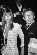 Acrylic print  Jane Birkin and Serge Gainsbourg - Celebrity Collection