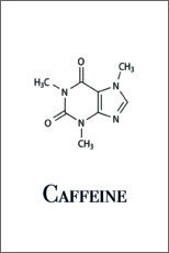 Acrylic print  Caffeine molecule - Pulse of Art