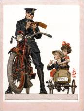 Premium poster Policeman and School Children