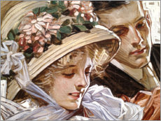 Acrylic glass  Togetherness - Joseph Christian Leyendecker