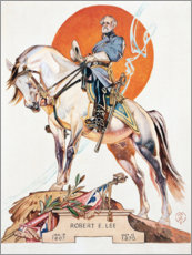 Wood print  Robert E. Lee - Joseph Christian Leyendecker