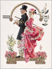 Acrylic glass  The Florist - Joseph Christian Leyendecker