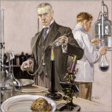 Canvas print  Timing an Experiment - Francis Xavier Leyendecker