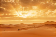 Gallery print  Sunset in the Sahara, Morocco - Markus Lange