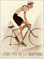 Wall sticker  Vintage cyclist mountain classification - Wyatt9