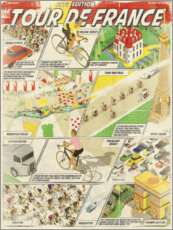 Premium poster Retro cycling comic