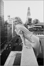 Canvas print  Marilyn Monroe in New York - Celebrity Collection