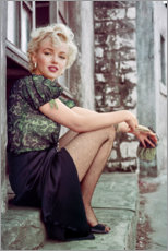 Premium poster Marilyn Monroe having a movie break
