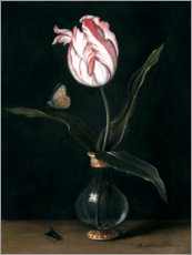 Wood print  The tulip summer beautiful - Balthasar van der Ast