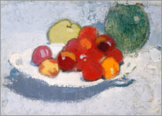 Acrylic print  Still life with fruits - Helene Schjerfbeck