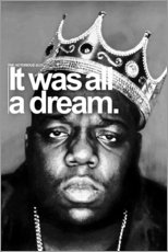 Acrylic print  The Notorious B.I.G. - Celebrity Collection