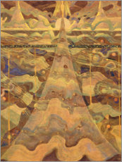 Wood print  Sonata of the Stars, Allegro - Mikalojus Ciurlionis