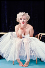 Canvas print  Marylin Monroe in ballet dress - Celebrity Collection