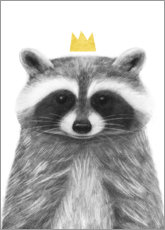Acrylic glass  Royal raccoon - Victoria Borges