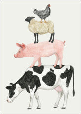 Gallery print  Funny animal farm pyramid - Grace Popp