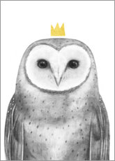 Canvas print  Royal owl - Victoria Borges