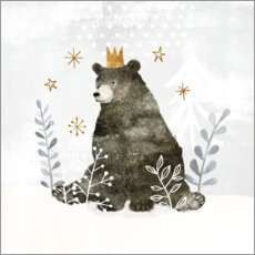 Gallery Print  King Bear in the far north - Victoria Borges