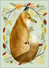 Poster  Fox in the fall - Grace Popp