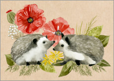 Alu-Dibond  Happy hedgehogs - Grace Popp