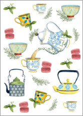 Wood print  Tasteful tea time - Grace Popp