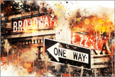 Premium poster  NYC Broadway One Way - Philippe HUGONNARD