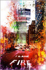 Gallery print  NYC Fire Lane - Philippe HUGONNARD
