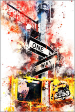 Premium poster NYC One Way Street