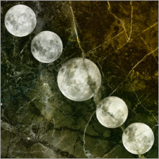 Canvas print  Moon phase 5 - Linnea Frank