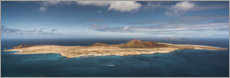 Premium poster La Graciosa - from the Mirador del Rio viewpoint
