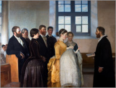 Acrylic print  A baptism - Michael Peter Ancher